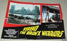 {Set of 6} 1990 the Bronx Warriors {Vic Morrow} Org. Italian Lobby Card 80s