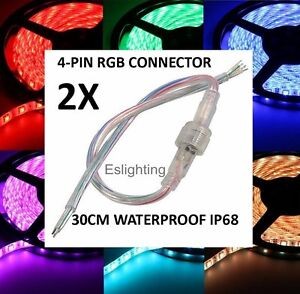 2X-12V-RGB-4-PIN-WATERPROOF-CONNECTOR-LED-STRIP-LIGHT-CONNECTION-CABLE-JOINER