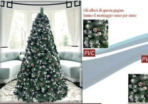Albero Di Natale Con Pigne.Albero Di Natale Cm 180 Pino Verde Con Rami Innevati Albero Con Pigne Pungitopo Ebay