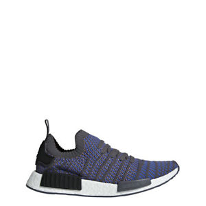 NEW MEN S ADIDAS ORIGINALS NMD R1 STLT PRIMEKNIT SHOES  CQ2388  BLUE ... 7c37c3621