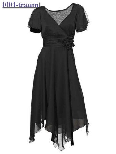 34 36 NEU Zipfelkleid Cocktaikleid Kleid Heine schwarz Gr