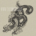 Temporary Tattoo - Dragon 3 - LARGE SIZE