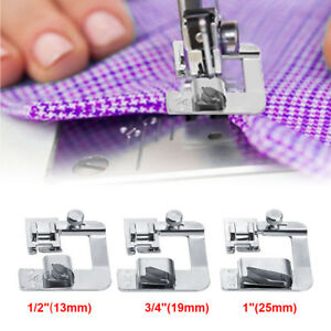 "3X Sewing Machine Foot Hemmer Presser Rolled Hem Feet 4//8/"" 6//8/"" 8//8/"" for Brother"