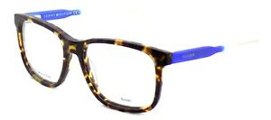 TOMMY-HILFIGER-TH-1392-QRD-Men-039-s-Eyeglasses-Frames-54-17-145-Havana-Blue-CASE