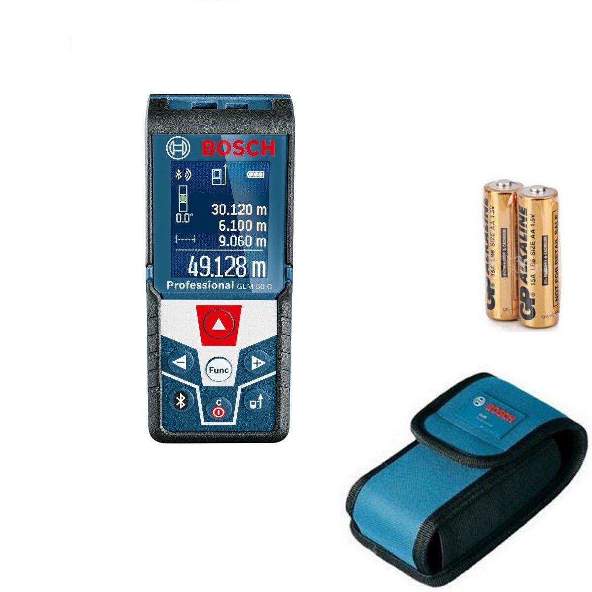 Bosch Laser-Entfernungsmesser GLM 50 C mit Farbdisplay Blautooth Professional