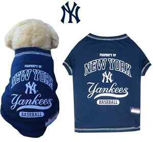online retailer 0ac25 7eed2 Details about MLB Fan Gear NEW YORK YANKEES Dog Shirt Dog Tee for Dogs BIG  SIZE XS-XL