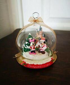 Boule De Noël MICKEY Et MINNIE Globe En Verre Disneyland Resort