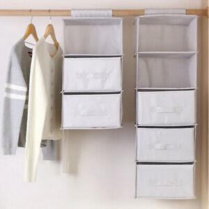 Home Drawer Shelves Hanging Wardrobe Organizer Storage Box Shoes Clothes Bedroom   EBay