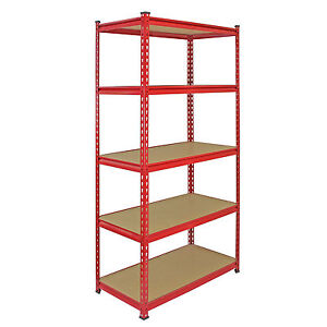 Garage-Racking-Heavy-Duty-Shelving-Unit-Storage-Z-Racks-Shelves-Bays-5-Tier-90cm
