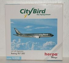Herpa Wings City Bird Boeing 767-300 mit Registration 1:500 502924