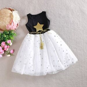 Toddler-Kids-Baby-Girls-Princess-Dress-Pageant-Party-Wedding-Tutu-Dressy-Clothes