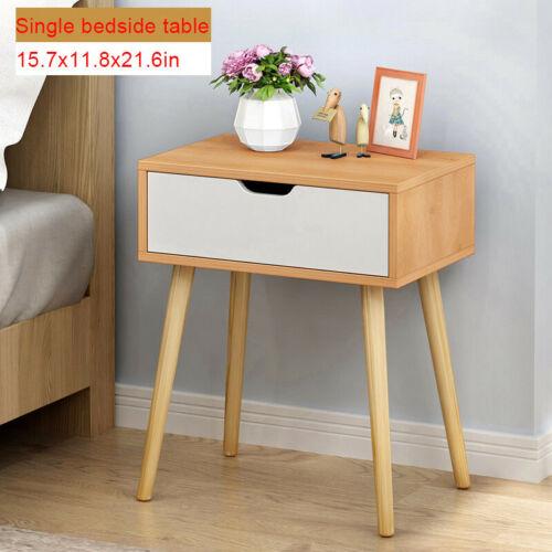 Assemble Storage Cabinet Bedroom Bedside Locker Double Drawer Nightstand
