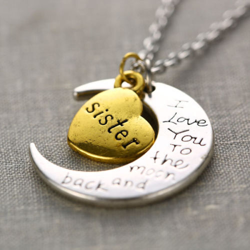 I Love You to the Moon and back familias collar remolque cadenas wahlbar