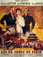 Affiche 60x80cm LES 55 JOURS DE PEKIN /55 DAYS AT PEKING (1963) Charlton Heston