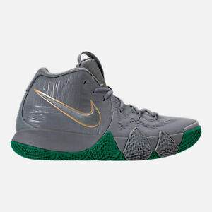 Details about MENS NIKE KYRIE 4 COOL GREY / GREEN BASKETBALL SHOES MEN'S  SELECT YOUR SIZE