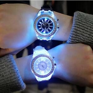 LED-Luminous-Women-039-s-Men-Watch-Sports-WristWatches-Outdoor-Couple-Gifts-NTHN