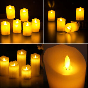 LED Flameless Tea Light Candle Swinging Dancing Flame Electronic Candles