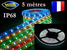 Rouleau 5 mètres 600 LEDS 3528 SMD Jaune recoupable étanche IP68 totale 12V