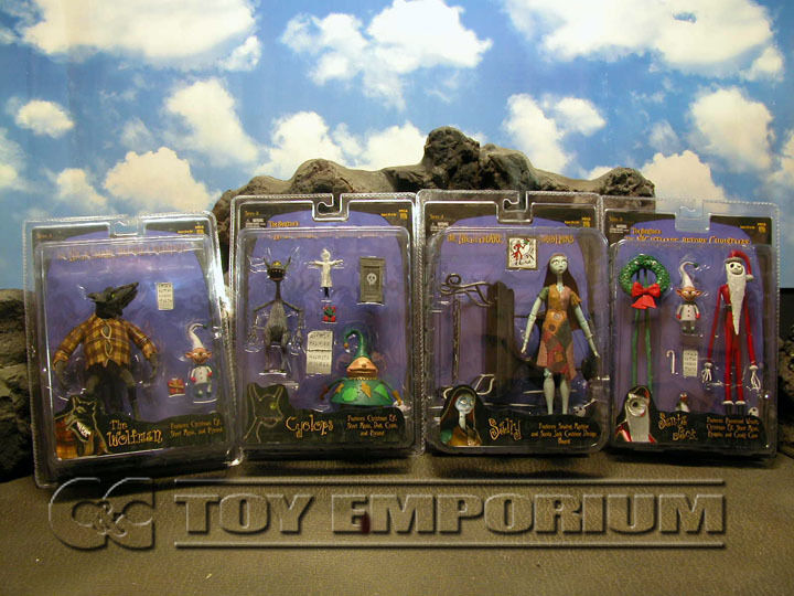 Nightmare Before Christmas  -  Movie Accurate Figures Series  3 FOUR Figure Set