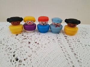Vintage-1990-Chubby-Fisher-Price-Little-People-Figuras-x-pacote-de-5