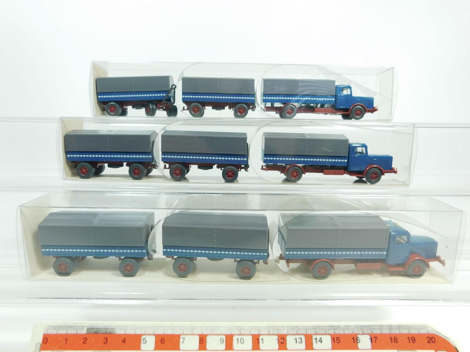 BD356-0,5x Wiking H0 1 87 29 478 silverforma CAMIÓN con remolque camión