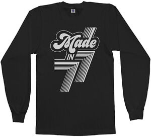 eed2bd320065d Made in 1977 Men's Long Sleeve T-Shirt 40th Birthday Party Gift 77 ...