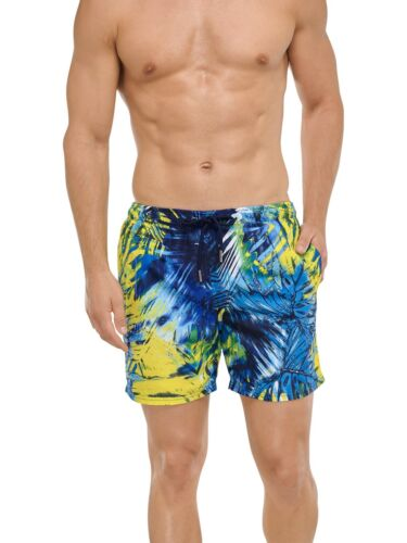 151729 Schiesser Herren Swimshorts Badeshorts Blue Native Men