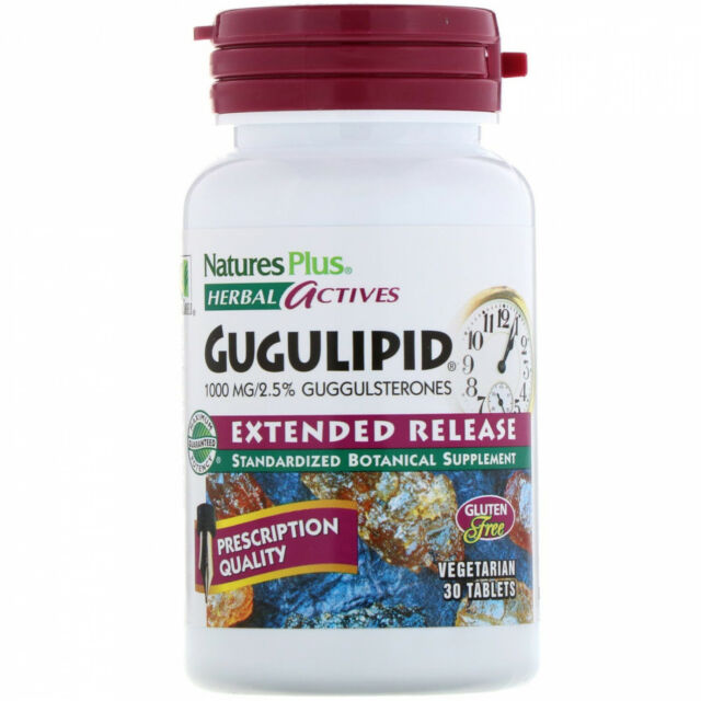 Nature's Plus, Herbal Actives, Gugulipid, Extended Release, 1,000 Mg, 30