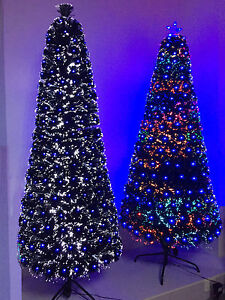 Premium Slim Artificial Christmas Tree Fibre Optic White