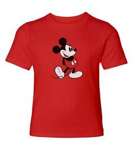 Disney-Classic-Mickey-Mouse-Black-amp-White-Men-Women-Crew-Neck-Unisex-Top-T-Shirt