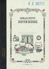 Hello Kitty X Tsubame Note A5 Journal Notebooks 2 Set Made In Japan Dhl
