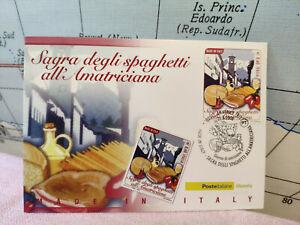 Cartolina Timbro 2008 Poste Sagra Spaghetti All'amatriciana Filatelia L5 Divers Styles