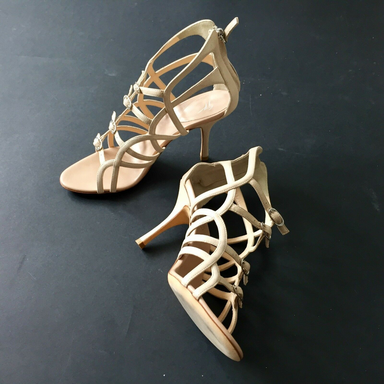Giuseppe Zanotti Design golden Beige Heels Sandals Wendy UK Size 5 NEW