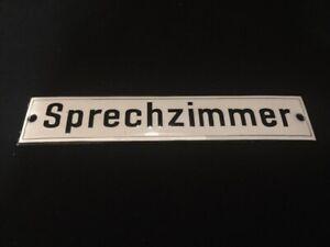 Sprechzimmer-Abovedada-Cartel-Esmaltado-Zuckergus-4-X-20CM-Perfecto-Estado-D-A