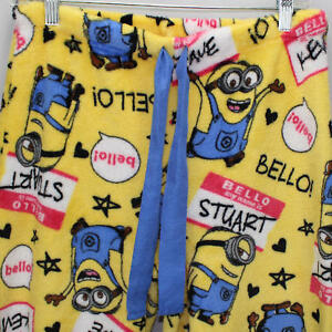 88aeaa1b94cf48 Image is loading Despicable-Me-Minions-Fleece-Pajama-Lounge -Sleepwear-Bottoms-