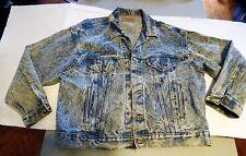 Mens XL Levis acid wash denim jean jacket made in USA vintage 70507 0219