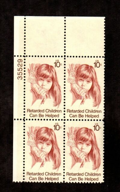 1549 Retarded Children Issue Block Of 4 MNH