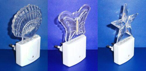 LED NACHTLICHT mit Sensor Steckdosenlicht Licht Orientierungslicht Lampe 3var 84