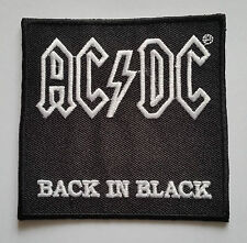 PUNK ROCK HEAVY METAL MUSIC SEW ON / IRON ON PATCH:- AC/DC (a) BACK IN BLACK