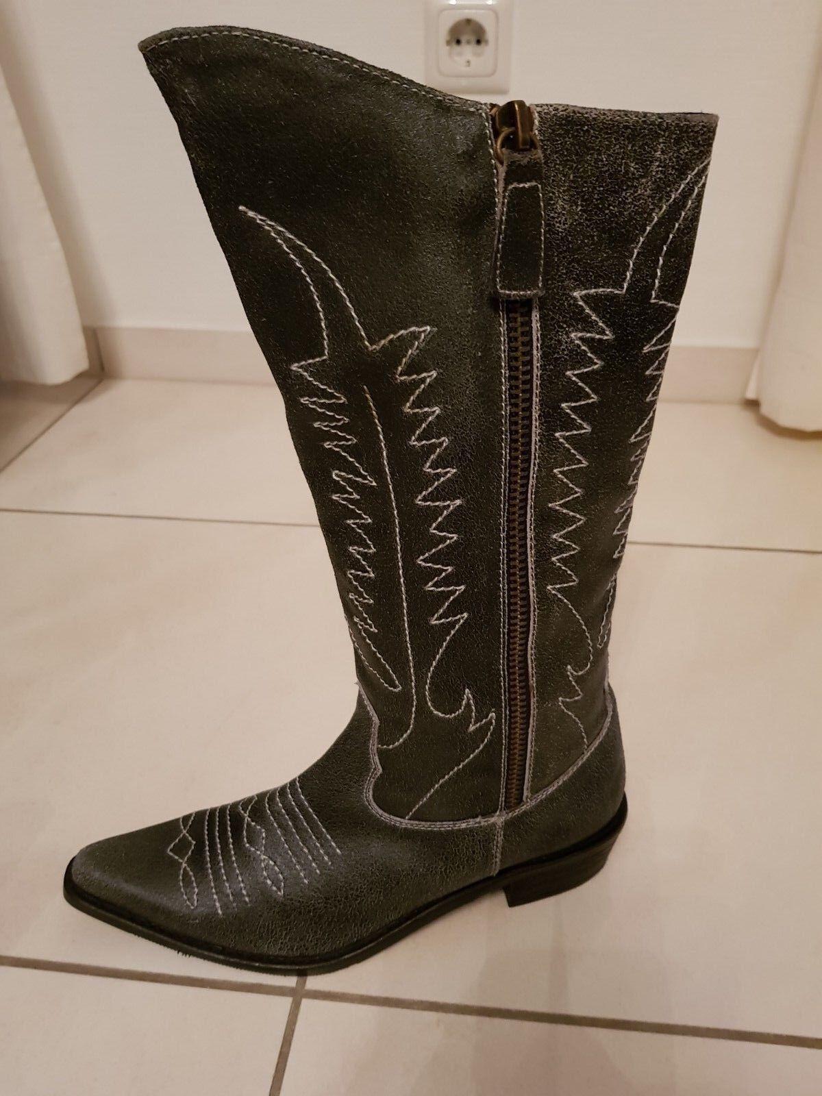 Original My Favourites Westernstiefel Cowboystiefel Cowboystiefel Cowboystiefel Stiefel Leder Gr. 37 NEU wild    Up-to-date-styling    Niedriger Preis und gute Qualität  2b1505