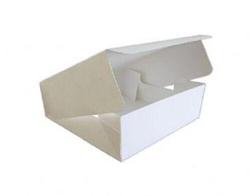 folded flat easy to erect White Cake Box multi listing