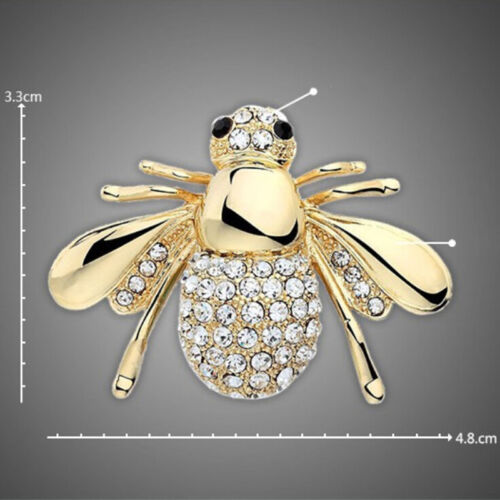 1//2x rhinestones animales broche joyas Cutes Bee broches pinesS3