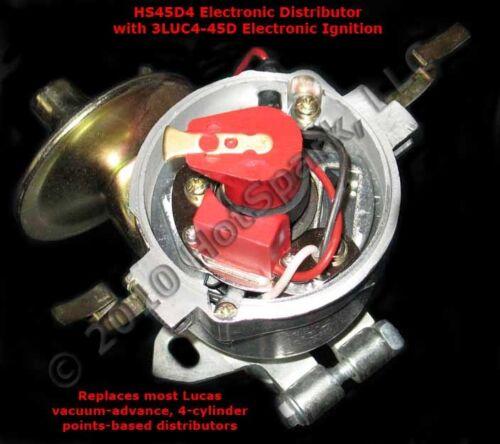 Electronic Distributor replaces Lucas 45D4 4-cylinder 45D4 48D 54D Distributors