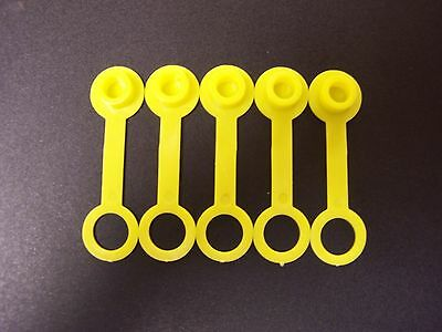 5 Yellow Chilton Vent Cap Replacement Sears Craftsman Gas Can Fuel Jug Plug