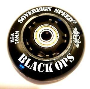 8x-76mm-Outdoor-Inline-Skate-Wheels-w-Bearings-rollerblade-roller-hockey-fitness