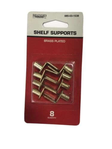 Shelf Supports Brass Plated
