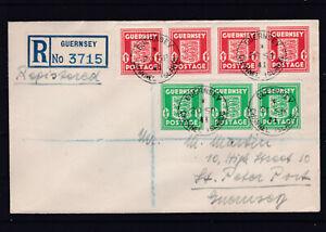 RRR  RECO Brief Guernsey auf 1941 ECHT gelaufenem Brief