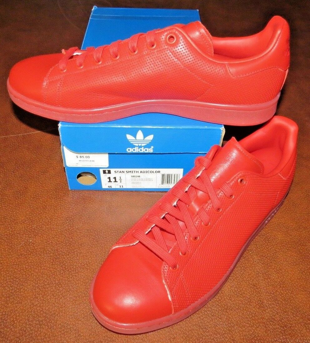 adidas stan size smith adicolor s80248 (red) size stan 11.5 - new in box>kostenloser versand! ebee1d