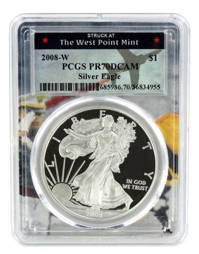 West Point Frame 2008 W Silver Eagle Proof  PCGS PR70 DCAM