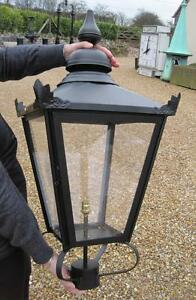 Extra large black square antique garden outdoor lantern lanterns image is loading extra large black square antique garden outdoor lantern aloadofball Gallery